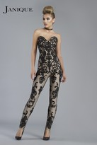 Janique - Beguiling Strapless Lace Jumpsuit K6561