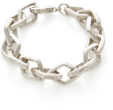 Rivka Friedman Diamond Shape Link Station Bracelet