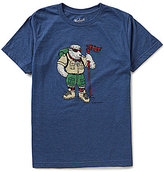 Woolrich Hayes Run Short-Sleeve Heather Graphic Tee