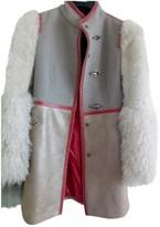 Fay Beige Mongolian Lamb Coat for Women