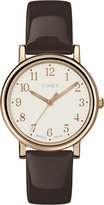 Timex Women's Originals T2P465AW Dial and Brown Patent Leather Strap Watch
