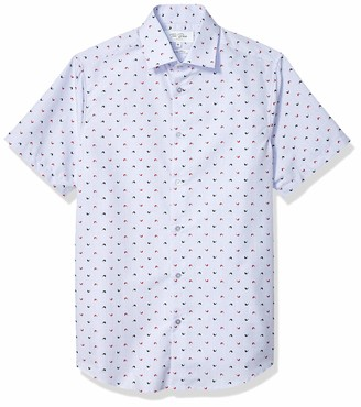 Azaro Uomo Men's Short Sleeve Button Down Casual Shirt Solid Pastel Colors