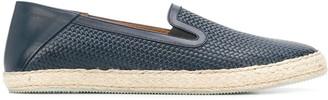 Moreschi Embossed Woven Slippers