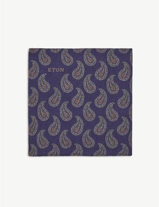 Eton Paisley wool pocket square