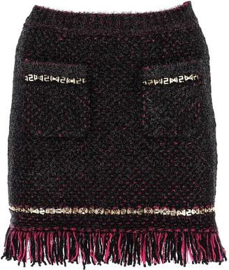 Versace Metallic Woven Skirt