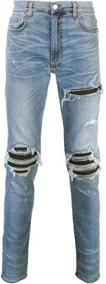 Amiri MX1 distressed slim-fit jeans