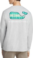 Vineyard Vines Crewneck Long Sleeve Football Field Graphic Tee