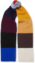 Dries Van Noten Colour-Block Wool Scarf
