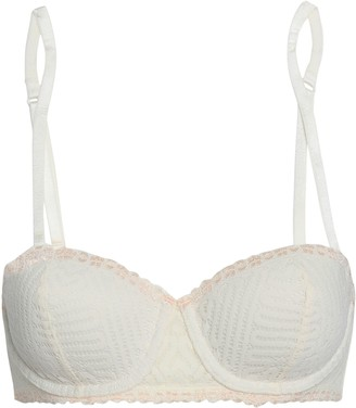 Heidi Klum Intimates Holly Mesh And Lace Push-up Bra