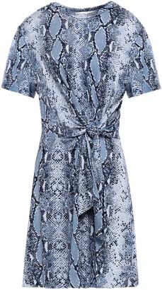 Diane von Furstenberg Teresa Wrap-effect Snake-print Silk-jersey Mini Dress