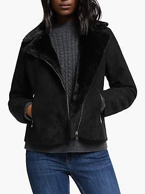 Ralph Lauren Ralph Faux Fur Lined Moto Leather Jacket, Black