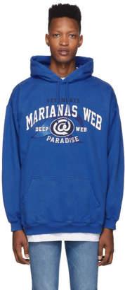 Vetements Blue Marianas Web Hoodie