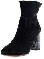Carven Marbre Bottin Round Toe Suede Bootie.