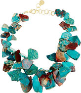 Nest Serpentine Turquoise Chunky Necklace