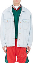 Martine Rose Men's Embroidered Denim Oversized Trucker Jacket