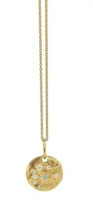 Yvonne Henderson Jewellery Sparkle Bright Textured Disc Necklace