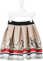 MonnaLisa horserider print skirt - kids - Polyester/Spandex/Elastane - 2 yrs