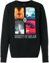 Marcelo Burlon County of Milan Diuca crewneck sweatshirt - men - Cotton - XS