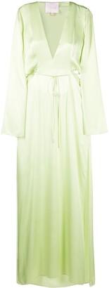 Galvan High-Shine Cut-Out Maxi Dress