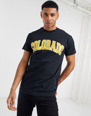 New Look oversized t-shirt with Colorado print in black