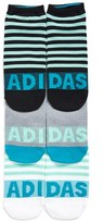 adidas Women's 3-Pack Adistripe No-Show Socks