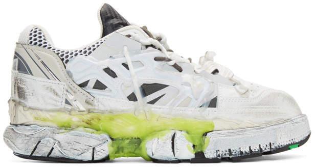 Maison Margiela White Fusion Low Sneakers