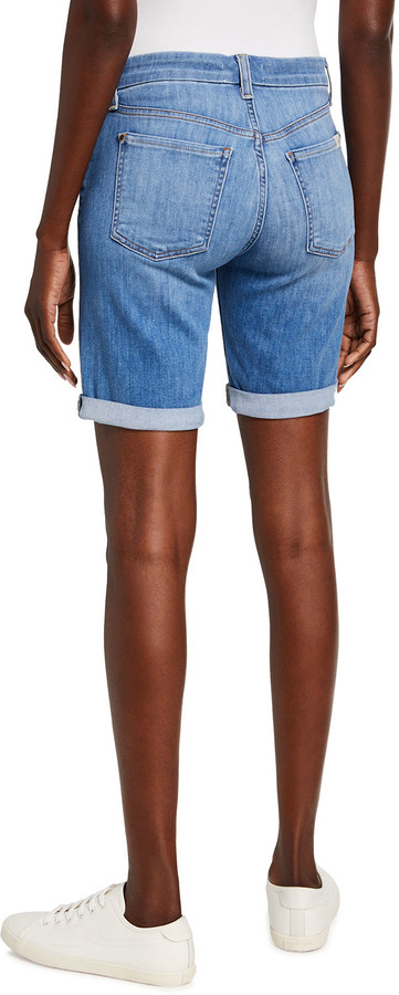 Thumbnail for your product : Jen7 Bermuda Shorts with Rolled Cuffs