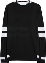 Givenchy Black Striped Fine-knit Wool Jumper