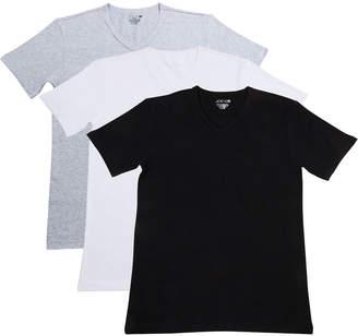 Joe's Jeans Men's Stretch Cotton V-Neck T-Shirts, Set of 3