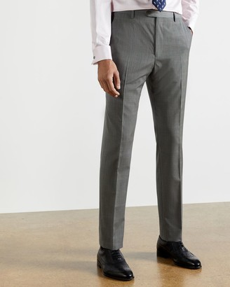 Ted Baker Debonair Wool Checked Slim Trousers