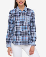 Tommy Hilfiger Cotton Patchwork Shirt, Only at Macy's