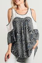 Umgee USA Fierce In Feathers Top