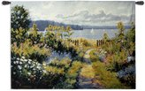 Fine Art Tapestries FineArtTapestries 1299-WH Garden View Wall Tapestry