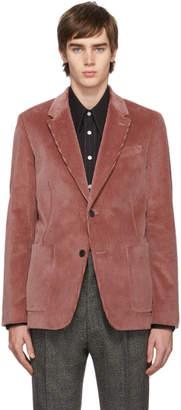 Ami Alexandre Mattiussi Pink Two-Button Patch Pockets Blazer