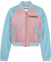 Moschino My Little Pony Appliquéd Lurex Bomber Jacket - Blue