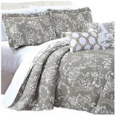 Serenta LA Boheme 5 Piece Printed Bed Spread Set, Taupe, King