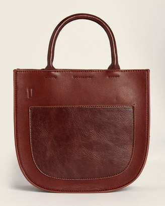Street Level Brown Front Pocket Tote