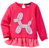 Andy & Evan Balloon Animal Tunic Tee (Toddler & Little Girls)