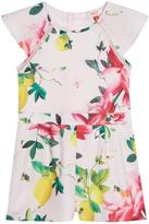 Ted Baker Girls Floral Print Woven Playsuit