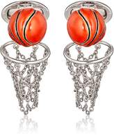 Jan Leslie Men's Basketball & Net Cufflinks