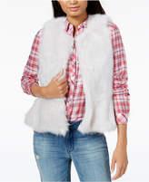 Maison Jules Faux-Fur Peplum Vest, Created for Macy's