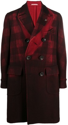 Gabriele Pasini Check Print Double-Breasted Coat