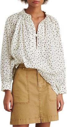 Alex Mill Stevie Swiss Dot Tunic Shirt