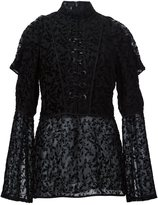 Yigal Azrouel floral pattern lace front blouse - women - Silk/Viscose - 2