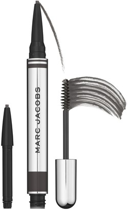 Marc Jacobs Beauty Brow Wow Duo Brow Powder Pencil And Tinted Gel (+ 1 Pencil Refill) - Colour Black