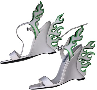 Prada Flame White Patent leather Sandals