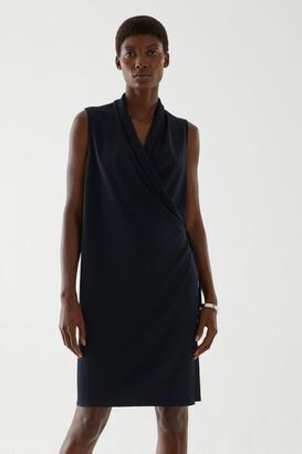 Cos Sleeveless Cowl Neck Dress