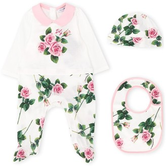 Dolce & Gabbana Rose Print Three-Piece Pajama Gift Set