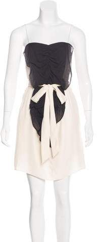 Nellie Partow Silk Mini Dress