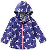 Joules Little Girls 1-6 Raindance Printed Hooded Full-Zip Fleece-Lined Raincoat